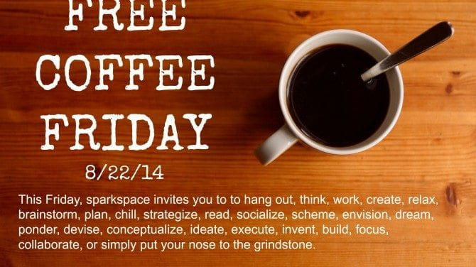 Free Coffee Friday is back on 8.22.14!